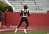 Hillcrest-Evergreen QB Ryan Nettles looks for an open receiver in the 3A state title game. (Aaron Daniel/JoxPreps)